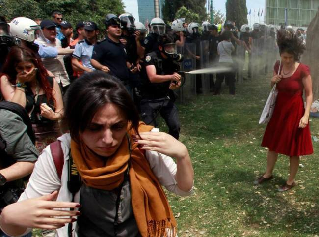 Photo from Gezi Facebook Page and Reuters