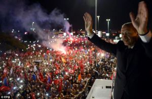 Erdogan, at the Ataturk airport, June 2013. From http://www.dailymail.co.uk/news/article-2338581/Turkey-PM-vows-beat-looters-says-defiant-speech-open-bus.html